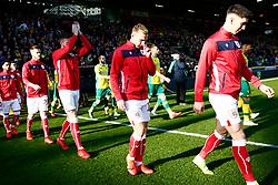 Bristol City players enter the pitch - Mandatory by-line: Phil Chaplin/JMP - FOOTBALL - Carrow Road - Norwich, England - Norwich City v Bristol City - Sky Bet Championship