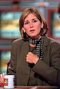 Republican consultant Mary Matalin discusses the ongoing Lewinsky scandal August 23, 1998 during NBC's Meet the Press in Washington, DC.