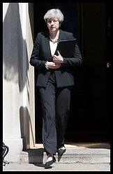 June 19, 2017 - London, London, United Kingdom - Image licensed to i-Images Picture Agency. 19/06/2017. London, United Kingdom. Prime Minister Theresa May arriving to give a statement on the Finsbury Park mosque attack from outside No10 Downing Street in London.  Picture by Stephen Lock / i-Images (Credit Image: © Stephen Lock/i-Images via ZUMA Press)