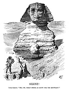 "Silent! Little Khedive. ""Tell me, great Sphinx—is Egypt for the Egyptians?"""
