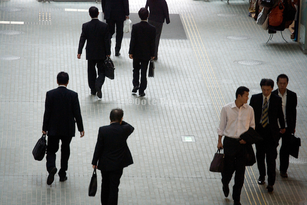 businessmen on their way to meetings