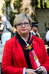© Licensed to London News Pictures. 19/09/2019. London, UK. JOANNA CHERRY QC MP - SNP MP for Edinburgh South West arrives at UK Supreme Court in London on the final day of the three day appeal hearing in the multiple legal challenges against the Prime Minister Boris Johnson's decision to prorogue Parliament ahead of a Queen's speech on 14 October. Since Tuesday 17 September, eleven instead of the usual nine Supreme Court justices have been hearing the politically charged claim that Boris Johnson acted unlawfully in advising the Queen to suspend parliament for five weeks in order to stifle debate over the Brexit crisis. It is the first time the Supreme Court has been summoned for an emergency hearing outside legal term time. Lady Hale, the first female president of the court who retires next January, has been preside the Brexit-related judicial review cases. Photo credit: Dinendra Haria/LNP