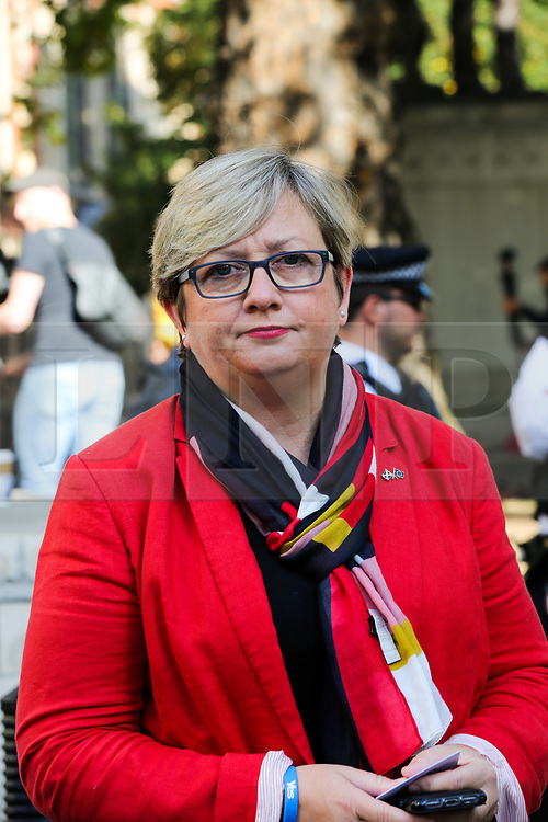 © Licensed to London News Pictures. 19/09/2019. London, UK. JOANNA CHERRY QC MP - SNP MP for Edinburgh South West arrives at UK Supreme Court in London on the final day of the three day appeal hearing in the multiple legal challenges against the Prime Minister Boris Johnson's decision to prorogue Parliament ahead of a Queen's speech on 14 October. Since Tuesday 17 September, eleven instead of the usual nine Supreme Court justices have been hearing the politically charged claim that Boris Johnson acted unlawfully in advising the Queen to suspend parliament for five weeks in order to stifle debate over the Brexit crisis.It is the first time the Supreme Court has been summoned for an emergency hearing outside legal term time.Lady Hale, the first female president of the court who retires next January, has been preside the Brexit-related judicial review cases. Photo credit: Dinendra Haria/LNP