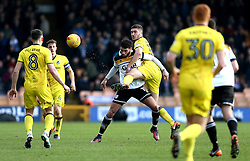 Ryan Sweeney of Bristol Rovers makes a tackle on Anton Forrester of Port Vale - Mandatory by-line: Robbie Stephenson/JMP - 18/02/2017 - FOOTBALL - Vale Park - Stoke-on-Trent, England - Port Vale v Bristol Rovers - Sky Bet League One