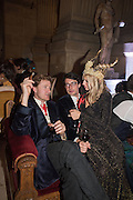 TOM NAYLOR-LEYLAND; LAUREN PARK; CHRISTOPHER RAMSAY, ,Ball at to celebrateBlanche Howard's 21st and  George Howard's 30th  birthday. Dress code: Black Tie with a touch of Surrealism. Castle Howard. Yorkshire. 14 November 2015