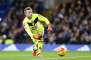 Goalkeeper Artur Boruc of Bournemouth in action. Barclays Premier league match, Chelsea v AFC Bournemouth at Stamford Bridge in London on Saturday 5th December 2015.<br /> pic by John Patrick Fletcher, Andrew Orchard sports photography.