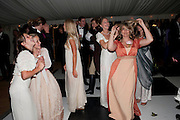 MIA SELMAN; LADY ELOISE GORDON-LENNOX; , The Goodwood Ball. In aid of Gt. Ormond St. hospital. Goodwood House. 27 July 2011. <br /> <br />  , -DO NOT ARCHIVE-© Copyright Photograph by Dafydd Jones. 248 Clapham Rd. London SW9 0PZ. Tel 0207 820 0771. www.dafjones.com.