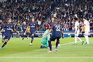 DANIEL ALVES DA SILVA (PSG) scored the first goal against Sven Ulreich (FC Bayern Munchen - FC Bayern de Munich), Neymar da Silva Santos Junior - Neymar Jr (PSG), Kylian Mbappe (PSG), Edinson Roberto Paulo Cavani Gomez (psg) (El Matador) (El Botija) (Florestan), Layvin Kurzawa (psg) during the UEFA Champions League, Group B football match between Paris Saint-Germain and Bayern Munich on September 27, 2017 at Parc des Princes stadium in Paris, France - Photo Stephane Allaman / ProSportsImages / DPPI