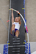 Lisa Gunnarsson of LSU wins the elite women's competition at 14-9 (4.50m)during the National Pole Vault Summit, Friday, Jan. 17, 2020, in Reno, Nev.