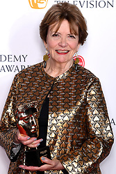 Joan Bakewell in the press room during the Virgin Media BAFTA TV awards, held at the Royal Festival Hall in London. Photo credit should read: Doug Peters/EMPICS