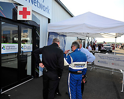 Sage Karam injured in a crash on August 23rd, 2015, at Pocono Raceway in Long Pond.