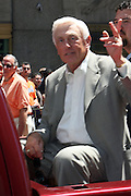 Phil Nekro at the Major League Baseball All-Stars and 49 Hall of Famers ride up Sixth Avenue in All Star-Game Red Carpet Parade Presented by Chevy on July 15, 2008