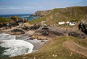 Coastal scenery near Kynance Cove, Lizard Peninsula, Cornwall, England, UK