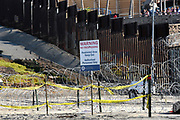 No Trespassing Sign and Restricted Area at Imperial Beach and Tijuana