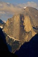 Cloud at sunset over Half Dome, Yosemite Valley, Yosemite National Park, California