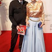 NLD/Amsterdam/20160206 - Premiere balletvorstelling Mata Hari, Chazia Mourali en partner Marc Schröder