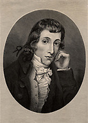 Alexander Wilson (1766-1813) teacher and ornithologist.  Born in Paisley, Scotland, he emigrated to America in 1794 and became an American citizen in 1804.  Considered by many to be the father of American ornithology.  At the time of his death seven of the planned nine volumes of his 'American Ornithology' (1808-1814) had been published.  The final two volumes were completed by his friend George Ord.  Engraving, 1896.
