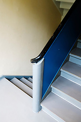 Detail of staircase in Bauhaus Masters' Houses by Walter Gropius on Ebertallee in Dessau-Rosslau Germany