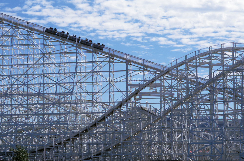 Distant view of a roller coaster