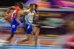 March 4, 2018 - Birmingham, England, United Kingdom - Andrew Pozzi ofGreat Britain at  60 meters hurdles at World indoor Athletics Championship 2018, Birmingham, England on March 4, 2018. (Credit Image: © Ulrik Pedersen/NurPhoto via ZUMA Press)