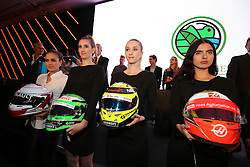 Helmets up for auction at an Inter / Sahara Force India F1 Team event.<br /> 26.10.2016. Formula 1 World Championship, Rd 19, Mexican Grand Prix, Mexico City, Mexico, Preparation Day.<br /> Copyright: Moy / XPB Images / action press