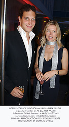 LORD FREDERICK WINDSOR and LADY HELEN TAYLOR at a party in London on 7th July 2004.PXA 88