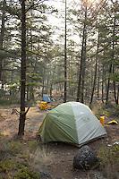 Camping along the  Chilko River. British Columbia, Canada.