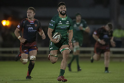 November 3, 2018 - Galway, Ireland - Colby Fainga'a of Connacht runs with the ball during the Guinness PRO14 match between Connacht Rugby and Dragons at the Sportsground in Galway, Ireland on November 3, 2018  (Credit Image: © Andrew Surma/NurPhoto via ZUMA Press)