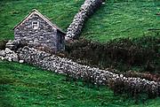 Rustic stone farm shed, Ireland