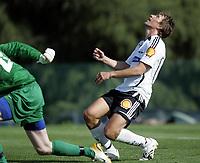 Fotball / Football<br /> La Manga Cup 2007 - Spain<br /> 23.02.2007<br /> Rosenborg v KR Reykjavik Island 1-0<br /> Foto: Morten Olsen, Digitalsport<br /> <br /> Vidar Riseth spilte spiss i andre omgang og fortviler over en missbrukt sjanse for RBK