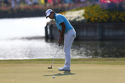 May 11, 2018 - Ponte Vedra Beach, Florida, United States - Si Woo Kim putts the 16th green during the second round of The PLAYERS Championship at TPC Sawgrass. (Credit Image: © Debby Wong via ZUMA Wire)