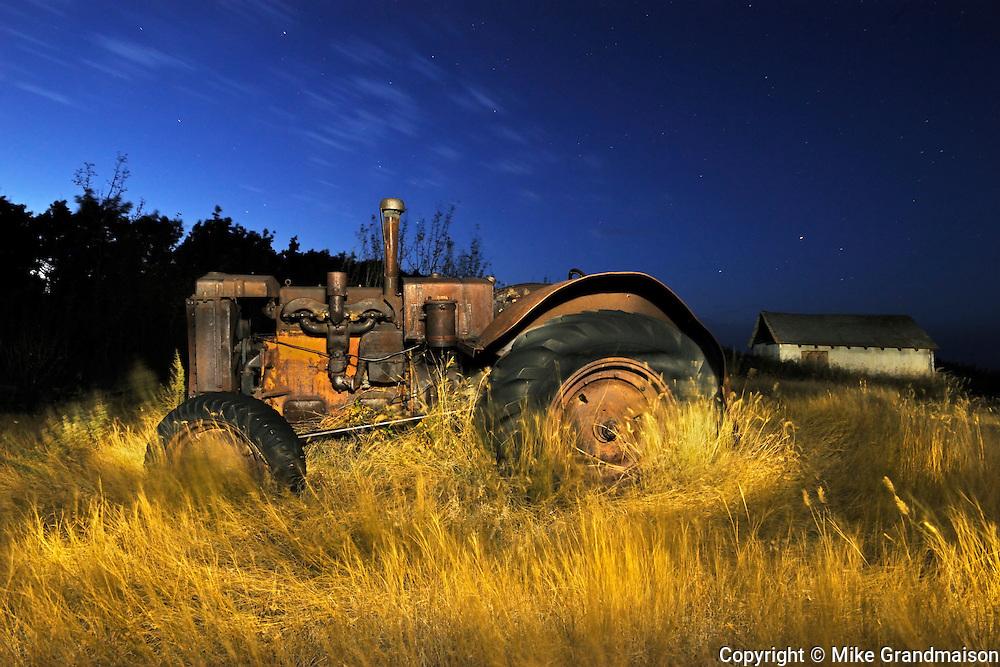 Old tractor at 'Bolton Farm'<br /> Baljennie<br /> Saskatchewan<br /> Canada