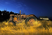 Old tractor at 'Bolton Farm'<br /> Baljennie<br /> Saskatchewan<br /> Canada