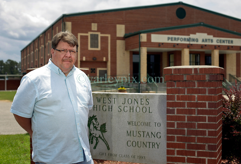 21 May 2015. Laurel, Mississippi.<br /> Tess Holliday background. <br /> Teacher Randy Cooley taught Tess, (née Ryann Hoven) in 8th grade at West Jones High School. Mr Cooley is Tess' 2nd cousin through marriage.<br /> Photo credit; Charlie Varley/varleypix.com