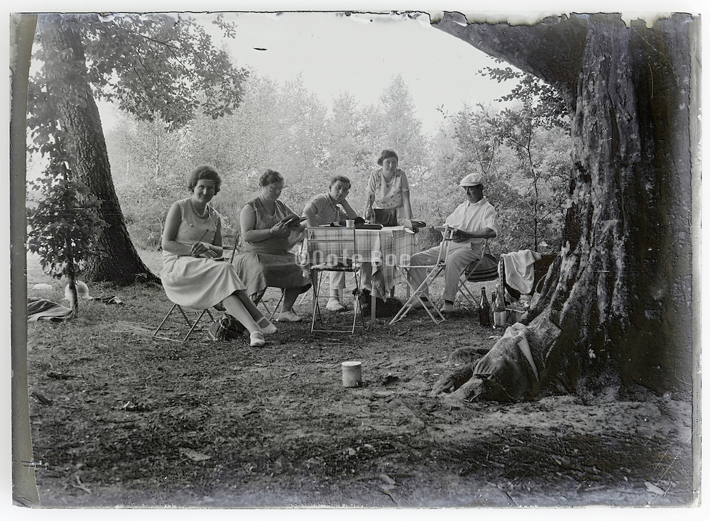 picnic outing of adult people