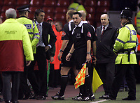 Photo: Paul Thomas.<br /> Liverpool v Middlesbrough. The Barclays Premiership. 18/04/2007.<br /> <br /> Gareth Southgate, manager of Boro, has a few words to referee Mr Graham Poll.