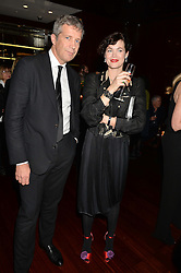 TOM MEGGLE and JASMINE GUINNESS at a dinner hosted by Liberatum to honour Francis Ford Coppola held at the Bulgari Hotel & Residences, 171 Knightsbridge, London on 17th November 2014.