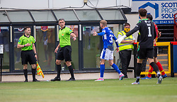 31JUL21 Partick Thistle's Turner's disallowed goal.  Partick Thistle 3 v 2 Queen of the South. First Scottish Championship game of the season.