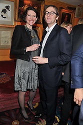 THOMASINA MIERS and MARK WILLIAMS at the Johnnie Walker Blue Label and David Gandy partnership launch party held at Annabel's, 44 Berkeley Square, London on 5th February 2013.