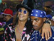 Slash & Coolio.MTV 20th Birthday Bash .Hammerstein Ballroom.New York, NY.August 01, 2001.Photo by Celebrityvibe.com..