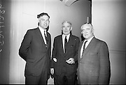 Annual General meeting of the Irish Rugby Football Union at the Shelbourne Hotel, Dublin. R. Fitzgerald, Secretary I.R.F.U.; Dr. P.F. Murray, newly elected President; and D.F. O'Donovan, Vice-President.<br /> 25.06.1965
