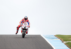 October 21, 2017 - Melbourne, Victoria, Australia - Italian rider Danilo Petrucci (#9) of OCTO Pramac Racing in action during the third free practice session at the 2017 Australian MotoGP at Phillip Island, Australia. (Credit Image: © Theo Karanikos via ZUMA Wire)