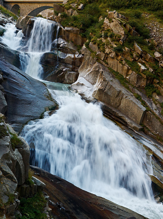 Switzerland - Devil's bridge waterfall