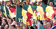 Leicester, Walker Stadium., Leicestershire, 5th April 2004, Heineken Cup, ENGLAND. [Mandatory Credit: Photo  Peter Spurrier/Intersport Images],Heineken Cup, Semi Final, Leicester Tigers vs Stade Toulouse, Walker Stadium, Leicester, ENGLAND: Tigers supporters
