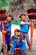 Broom salesmen, Banos, Ecuador