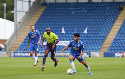 Courtney Senior of Colchester United runs with the ball - Mandatory by-line: Arron Gent/JMP - 18/06/2020 - FOOTBALL - JobServe Community Stadium - Colchester, England - Colchester United v Exeter City - Sky Bet League Two Play-off 1st Leg