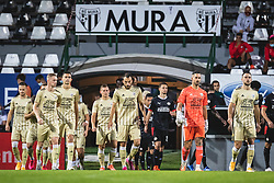 Players entering the pitch before football match between NS Mura and PSV Eindhoven in Third Round of UEFA Europa League Qualifications, on September 24, 2020 in Stadium Fazanerija, Murska Sobota, Slovenia. Photo by Blaz Weindorfer / Sportida