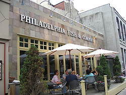 Fine dining at Philadelphia Fish & Co restaurant. .Philadelphia, Pennsylvania, PA USA.  Photo copyright Lee Foster, 510-549-2202, lee@fostertravel.com, www.fostertravel.com. Photo 341-50034
