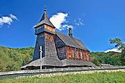 Kościół p.w. Św. Mikołaja Cudotwórcy z 1667 roku z miejscowości Bączal Dolny k. Jasła. Park Etnograficzny w Sanoku