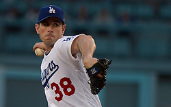 June 20, 2017 - Los Angeles, California, U.S. - Los Angeles Dodgers starting pitcher Brandon McCarthy throws toward the plate against the New York Mets in the second inning of a Major League baseball game at Dodger Stadium on Tuesday, June 20, 2017 in Los Angeles. (Photo by Keith Birmingham, Pasadena Star-News/SCNG) (Credit Image: © San Gabriel Valley Tribune via ZUMA Wire)